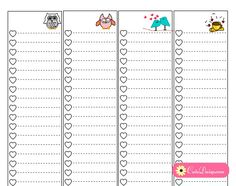 Free Printable To Do Lists for Classic Happy Planner Sidebar
