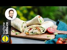 Tortilla plněná kuřecím masem - Marcel Ihnačák - RECEPTY KUCHYNĚ LIDLU - YouTube Marceline, Lidl, Fresh Rolls, Tacos, Pizza, Mexican, Ethnic Recipes, Youtube, Food