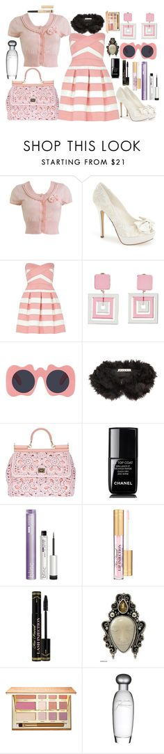 """Seelie Traitor #10"" by travelcutie ❤ liked on Polyvore featuring Wet Seal, Menbur, River Island, Miu Miu, Le Specs, Marni, Dolce&Gabbana, Chanel, Blinc and Too Faced Cosmetics"