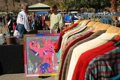 Palm Springs Vintage Market - there are lots of fun things to do in Palm Springs, CA besides nude sunbathe at Terra Cotta Inn.