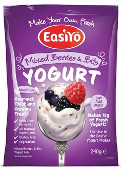 EasiYo Gourmet Range Mixed Berries and Bits Yogurt 240g