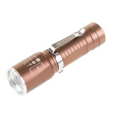 4.5 in. Cree LED 3 Mode Zoomable Bronze Aluminum Flashlight