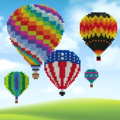Imagine the breathtaking feel of floating aloft when you create these colorful hot air balloons. A great picture window display!