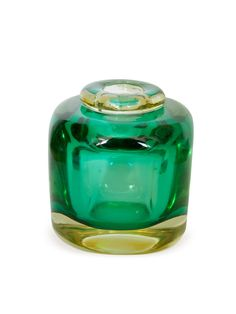 Laura Kirar Green Glass Vase