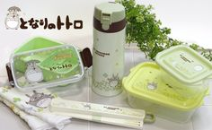 Studio Ghibli My Neighbor Totoro Lunch Box and Hand Towel Set (Clover)