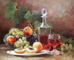 """Yuri Nikolaev - """"Natura statica cu vin roșu"""""""