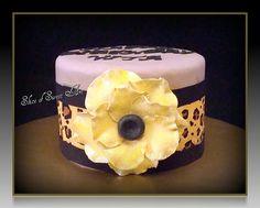 Anemone Leopard Print Birthday Cake by Slice of Sweet Art - Custom Cakes, via Flickr