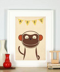 Retro Poster, Katze, Kinderzimmer, Bild, Druck, A3 Retro Posters ...