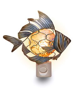 Another great find on #zulily! Blue & Green Fish Night-Light #zulilyfinds