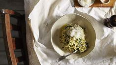Duck egg tagliolini with nettles and lemon recipe : SBS Food