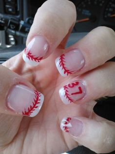Baseball nails...for when we go to WORLD SERIES in Alabama!