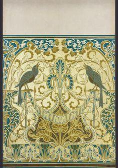 "Walter Crane - ""Singing Bird"" wallpaper border (1893)"