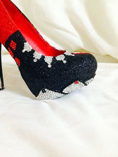 Harley Quinn Custom Rhinestone Heels/ Wedding/ by AWhimsicalHoot