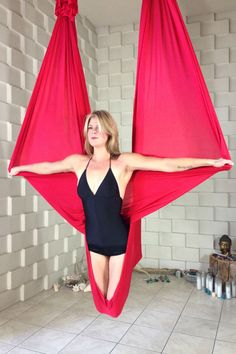 Bat by Stephanye of Ajna Life Aerial yoga & dance in the hammock, silks, lyra and trapeze. Tutorials, pose references and lifestyle at ajnalife.com