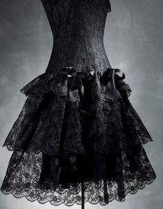in black lace