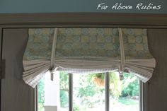Far Above Rubies: Making window shades