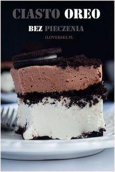 ciasto oreo przepis Semi Sweet Chocolate Recipe, White Chocolate Recipes, Chocolate Slim, Baking Recipes, Snack Recipes, Dessert Recipes, Sweet Recipes, No Bake Desserts, Delicious Desserts