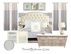 Master Bedroom Oasis l Kate Brock Interior Design l eDesign l Grey and White l Elegant Decor