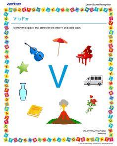 50 Best letter v images | Preschool alphabet, Preschool letters