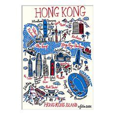 Buy Julia Gash - Hong Kong Unframed Print with Mount, 30 x 40cm Online at johnlewis.com