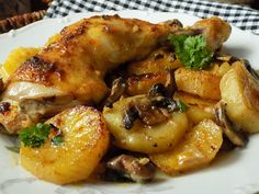 Czech Recipes, Food Dishes, Chicken Wings, Poultry, Recipies, Food And Drink, Health Fitness, Cooking Recipes, Yummy Food