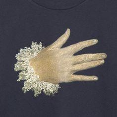 Detalle de la mano del CABALLERO DE LA MANO EN EL PECHO de EL GRECO.