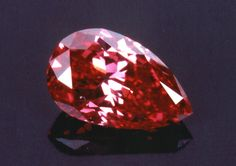 The Rob Red diamond.  Although only .59 carats, the Rob Red is the most saturated and purest fancy intense red diamond. It is also unique in that it is relatively clean with a VS1 clarity grading. It is named after its owner, Mr. Robert Bogel.