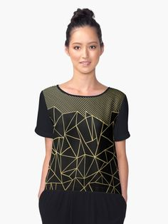 """Ab Lines 45 Gold"" Chiffon Tops by ProjectM 