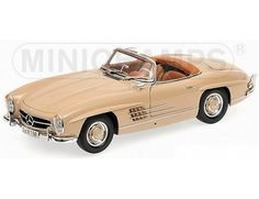 The Mercedes Benz 300 SL Roadster (W198) 1957 Light Brown is part of the Minichamps 1/18 Road Cars Collection