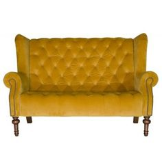 Alexander & James Theo Sofa- Plush Tumeric (Range A) Fabric - Sofas - Home furniture - Indoor Seater Sofa, Furniture, High Back Chairs, Sofa, Furniture Uk, Comfortable Sofa, Sofa Sale, Fine Furniture, Fabric Sofa