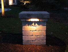 driveway pillar lighting - Google Search