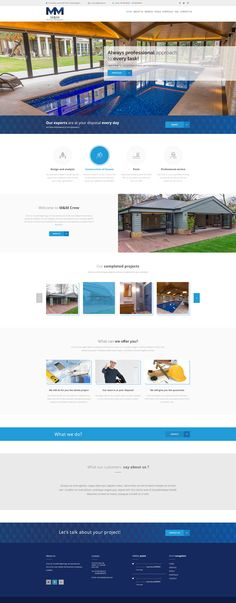 Another #website in progress! #pools #constructions #company #buildingcompany #webdesign #project #digitalagency