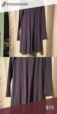 Express long sleeve t shirt dress Long sleeve licorice grey t shirt dress Express Dresses Long Sleeve