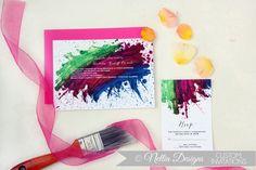 #invitations #pink #watercolor