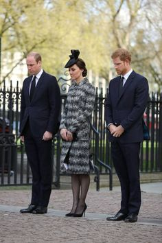 Prince William, Duke of Cambridge, Catherine, Duchess of Cambridge and Prince Harry attends the Service of Hope at Westminster Abbey on April 5,2017 in London, United Kingdom. The multi-faith Service of Hope was held for the four people killed when Khalid Masood committed an act of terror in Westminster on Wednesday March 22. Survivors, bereaved families and members of the emergency services joined The Duke and Duchess of Cambridge, Prince Harry, the Home Secretary, Amber Rudd and London…