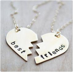 Best Friends Keeepsake - Gold Filled Necklaces - Heart Necklace - Besties Jewelry - Best Friend Necklace