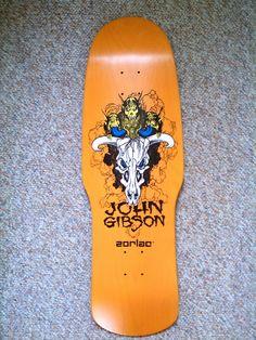 John Gibson Zorlac Reissue Orange Stain Skateboard Deck Real Skateboards, Old School Skateboards, Vintage Skateboards, Complete Skateboards, Skateboard Design, Skateboard Decks, Skate Extreme, John Gibson, Skate And Destroy