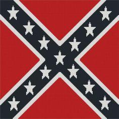 Flag Confederate cross stitch.