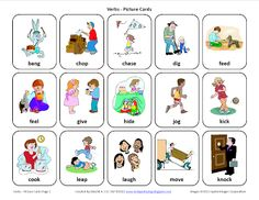 Testy yet trying: Verbs-Free Speech Therapy Picture Cards. Pinned by SOS Inc. Resources. Follow all our boards at pinterest.com/sostherapy for therapy resources.