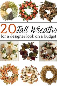 20 Fall Wreaths for Under $100 - Bless'er House A round-up of home decor shopping guide of favorite Fall wreaths with a designer look for half the price. Early Fall, Fall Wreaths, Best Location, The 100, House, Home Decor, Early Autumn, Home, Haus