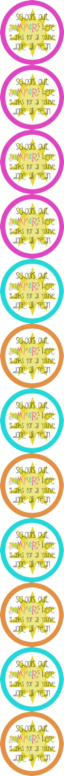 Summer thank you tags - great for teachers, coaches, school friends, etc! Staff Gifts, Volunteer Gifts, Parent Gifts, Student Gifts, Teacher Gifts, Volunteer Ideas, End Of School Year, School Fun, School Stuff