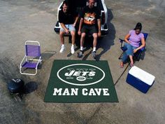 NFL - New York Jets Man Cave Tailgater Rug 5'x6'