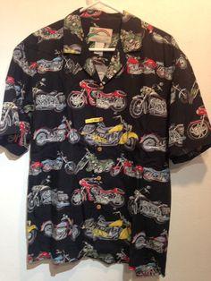8b426709a5b paradise found motorcycle hawaiian shirt Size M #ParadiseFound #Hawaiian  Paradise Found, Aloha Shirt