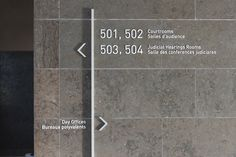Directional for Qunite Consolidated Courthouse (Forge Media + Design | Edmund Li).