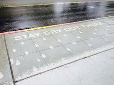 Rainworks - Sidewalk illustrations only appear when raining...