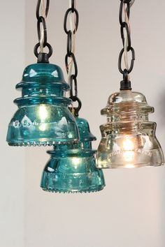 Latest Work - eclectic - pendant lighting - richmond - by Colonial Metalcrafts Eclectic Pendant Lighting, Diy Pendant Light, Rustic Lighting, Pendant Lights, Industrial Lighting, Lighting Ideas, Insulator Lights, Glass Insulators, Lampe Steampunk