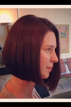 Graduated bob  with warm colour tones    Neville Humpage  @ Harpers & Co Hair