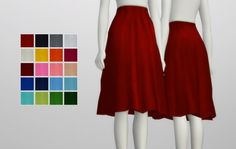 Rusty Nail: Simple flare skirt • Sims 4 Downloads