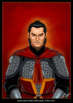 The man in this picture is Tran Hung Dao (1228–1300). He was the Supreme Commander of Vietnam during the Trần Dynasty.  His triple victories over the mighty Mongol Yuan Dynasty under Kublai Khan are considered among the greatest military feats in world history.