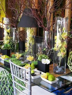 Feasting table, Tampa Wedding Florist, Weddings, Centerpieces